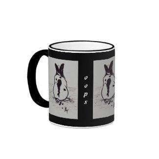 Bunny Go Oops aceo Mug mug
