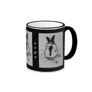Bunny Go Oops aceo Mug