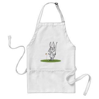Bunny Golf Adult Apron