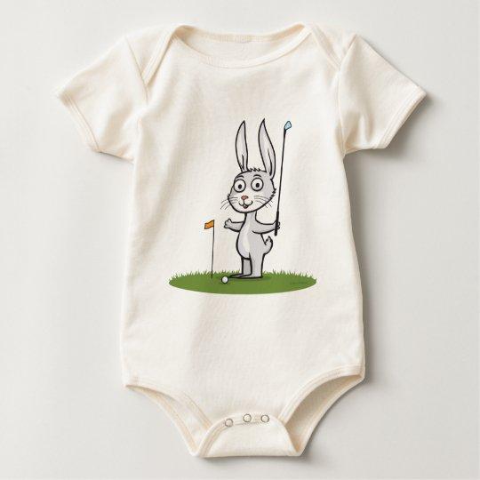 Bunny Golf Baby Bodysuit
