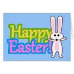 Bunny Happy Easter Design Card