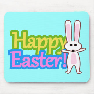 Bunny Happy Easter Design Mousepads
