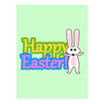 Bunny Happy Easter Design Post Card