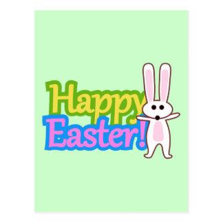 Bunny Happy Easter Design Postcard