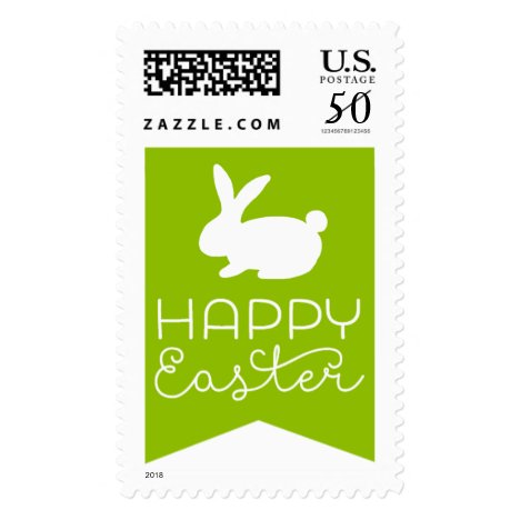 Bunny Happy Easter Postage Stamps
