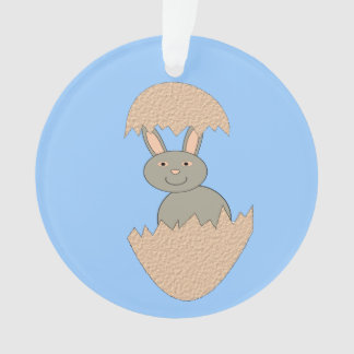 Bunny Hatching from Egg Weird Acrylic Ornament