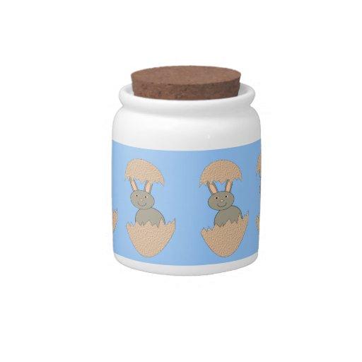 Bunny Hatching from Egg Weird Candy Jar