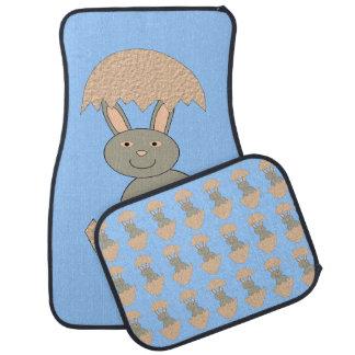 Bunny Hatching from Egg Weird Car Mat Set
