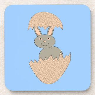Bunny Hatching from Egg Weird Coaster