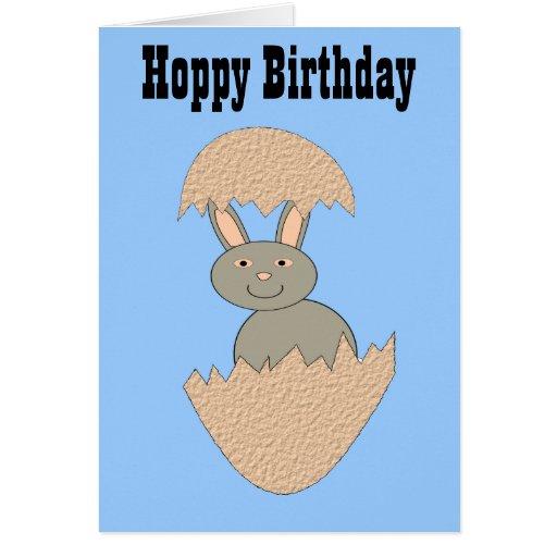 Bunny Hatching from Egg Weird Custom Card