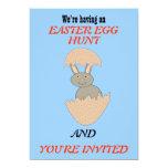 Bunny Hatching from Egg Weird Custom Easter Egg Hu 5x7 Paper Invitation Card