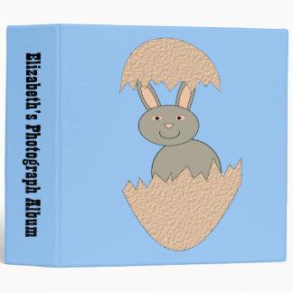 Bunny Hatching from Egg Weird Custom Photo Album 3 Ring Binder