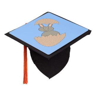 Bunny Hatching from Egg Weird Graduation Cap Topper