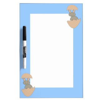 Bunny Hatching from Egg Weird Memo Board Dry Erase Whiteboards