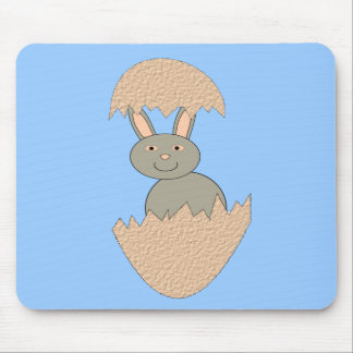 Bunny Hatching from Egg Weird Mousepad