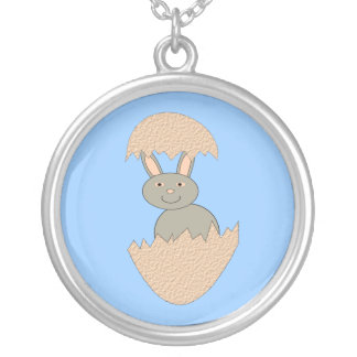 Bunny Hatching from Egg Weird Necklace