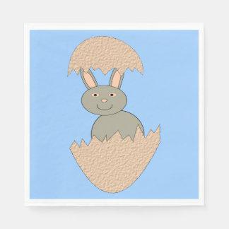 Bunny Hatching from Egg Weird Paper Napkins