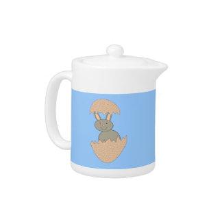 Bunny Hatching from Egg Weird Teapot