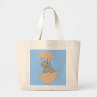 Bunny Hatching from Egg Weird Tote Bag Jumbo Tote Bag