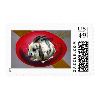 Bunny Hatching from Giant Egg Postage