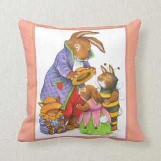 Bunny Hats Baby Room Pillow