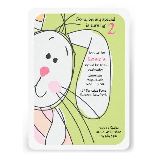 Bunny Hide-and-Seek Invitation