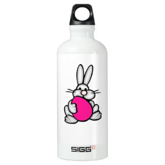 Bunny holding Hot Pink Egg Water Bottle