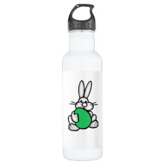 Bunny Holding Kelly Green Egg Stainless Steel Water Bottle