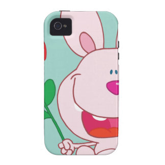 Bunny holds flower iPhone 4/4S covers