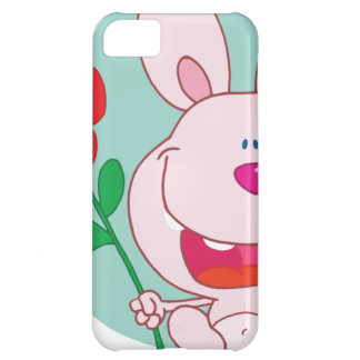 Bunny holds flower iPhone 5C cases