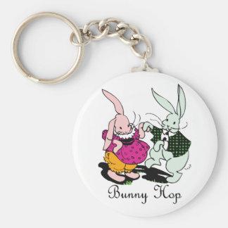 Bunny Hop Basic Round Button Keychain