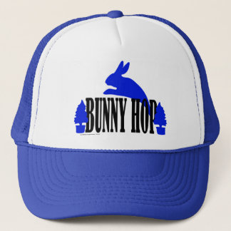 Bunny Hop (blue) Trucker Hat