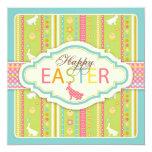 """Bunny Hop Invitation Square 5.25"""" Square Invitation Card"""