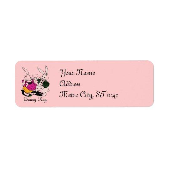 Bunny Hop Return Address Label