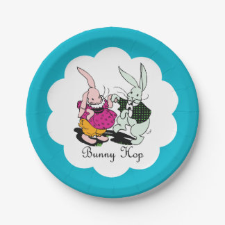 Bunny Hop 7 Inch Paper Plate