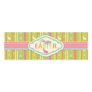 Bunny Hop Skinny Gift Tag 2 Business Card Templates