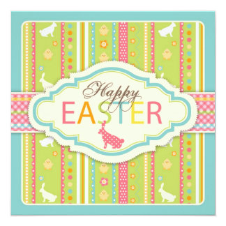 Bunny Hop Square Card