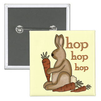 Bunny Hop T-shirts and Gifts Button
