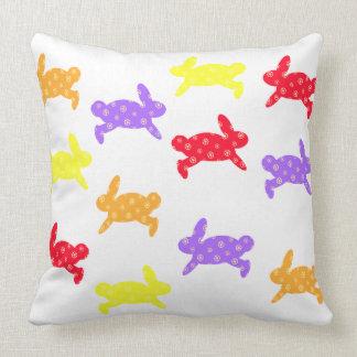 Bunny Hop Throw Pillow