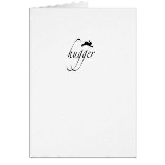Bunny hugger card