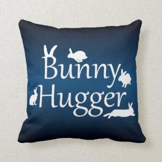 Bunny Hugger Pillow (Dark/Light Blue)