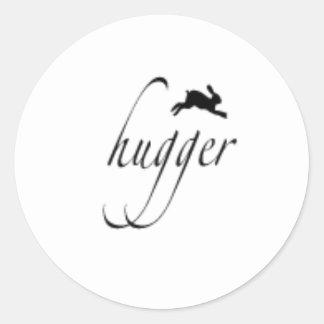 Bunny hugger sticker