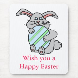 Bunny Hugging An Egg Mouse Pad