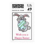Bunny Hugging An Egg Stamp