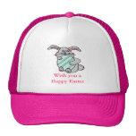 Bunny Hugging An Egg Trucker Hat