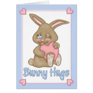 Bunny Hugs Easter Greeting Card