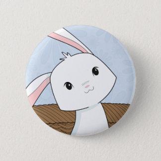 Bunny in a Basket Closeup Easter Button