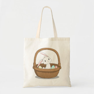 Bunny in a Basket Easter Tote