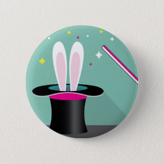 Bunny in a hat magic button