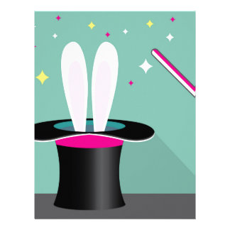 Bunny in a hat magic letterhead